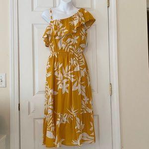 NWT Old Navy Floral One Shoulder Dress